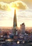 Ville de panorama de Londres, tesson de verre Photographie stock