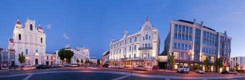 Ville de panorama de Vilnius vieille Images libres de droits