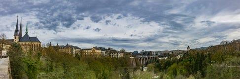 Ville de panorama du luxembourgeois photos stock
