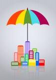 Ville de parapluie Image libre de droits