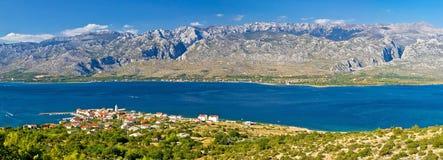 Ville de parc national de Vinjerac et de Paklenica Images libres de droits