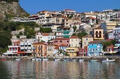 Ville de Parga en Grèce Image stock