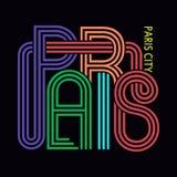 Ville de Paris, graphiques de typographie de T-shirt, vecteur Photo libre de droits