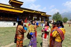 Ville de Paro du Bhutan images libres de droits