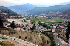 Ville de Paro du Bhutan Photographie stock
