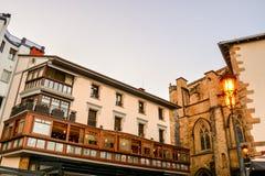 Ville de pays Basque Espagne de Getaria Photographie stock