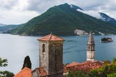 Ville de Perast sur la baie de Kotorska dans Monténégro Photos libres de droits