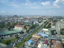 Ville de Phnom Penh Images libres de droits