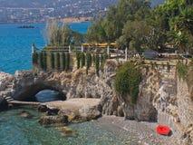 Ville de plage d'Agios Nikolaos Photo stock