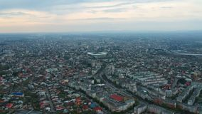 Ville de Ploiesti, Roumanie, longueur aérienne de côté est banque de vidéos