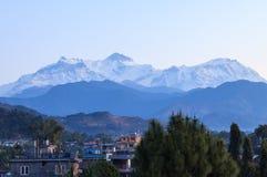 Ville de Pokhara, Népal images stock