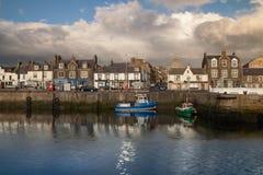Ville de port de Macduff Photographie stock libre de droits