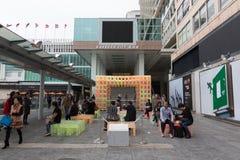 Ville de port en Hong Kong Images libres de droits