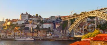 Ville de Porto de panorama vieille, Portugal Photo stock