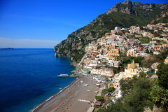 Ville de Positano, Amalfi Images libres de droits