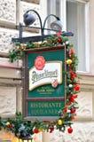 Ville de Prague de connexion de vintage de restaurant Photographie stock