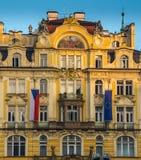 Ville de Prague tôt le matin images libres de droits