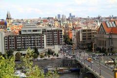 Ville de Prague vue d'en haut Photo libre de droits