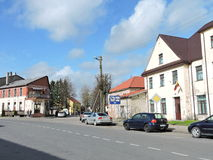 Ville de Priekule, Lithuanie Photos libres de droits