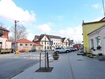 Ville de Priekule, Lithuanie Photographie stock libre de droits