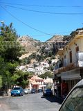 Ville de province, Grèce, Crète, Spili photo libre de droits