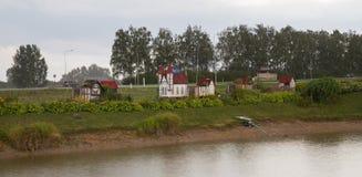 Ville de Rabit en Lettonie photographie stock libre de droits