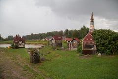 Ville de Rabit en Lettonie images stock
