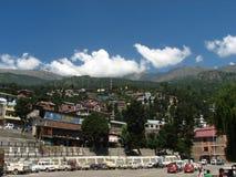 Ville de Rekongpeo dans l'Inde de Kinnaur Image stock