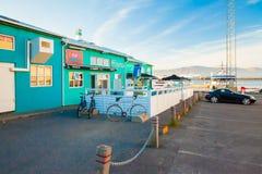 Ville de Reykjavik près du port images stock