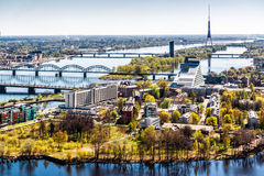 Ville de Riga. Lettonie Image libre de droits