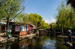 Ville de rivière de faisceau, Lijiang, Chine Photo stock