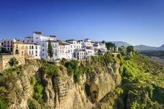 Ville de Ronda, Espagne Cliffside photo stock