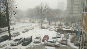 Ville de route de neige Images stock