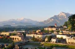 Ville de Salzbourg. Photographie stock libre de droits