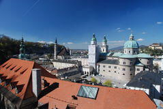 Ville de Salzbourg image libre de droits