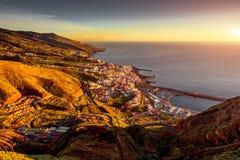 Ville de Santa Cruz sur l'île de Palma de La Photos stock