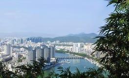 Ville de Sanya, île de Hainan, Chine Photo libre de droits