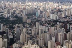 Ville de Sao Paulo de vue aérienne - Brésil Images stock