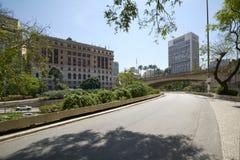 Ville de Sao Paulo, vallée d'Anhangabau Photographie stock