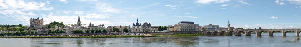 Ville de Saumur Stock Image