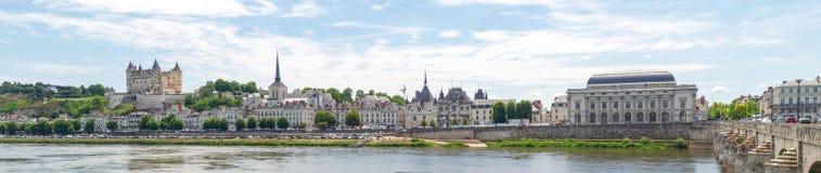 Ville de Saumur Stock Photography