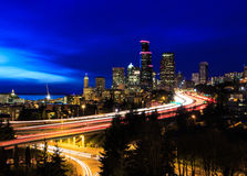 Ville de Seattle Image stock