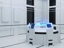 Ville de secteur d'hologramme de projection Photographie stock libre de droits
