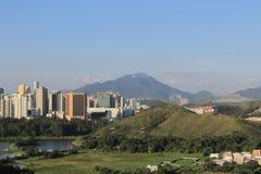 Ville de Shenzhen de la Chine de vue de Hong Kong photos stock