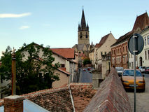 Ville de Sibiu en Transylvanie Photographie stock