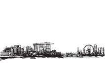 Ville de Singapour illustration stock