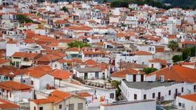 Ville de Skiathos Image stock