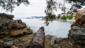 Ville de Skiathos Photos stock