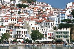 Ville de Skopelos Photographie stock