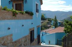Ville de Smurf, Juzcar à Ronda, Espagne Images libres de droits